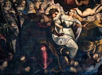 Le Paradis de Tintoret, sainte Justine et sainte Lucie au Palais des Doges de Venise