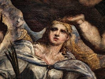 Le Paradis de Tintoret, sainte Lucie de Syracuse, au Palais des Doges de Venise