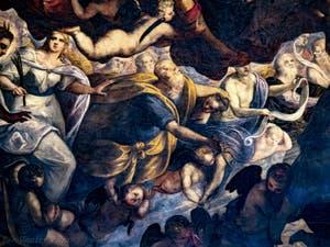 Le Paradis de Tintoret, Abraham et Isaac, au Palais des Doges de Venise