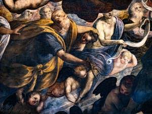 Abraham et Isaac dans le Paradis de Tintoret au Palais des Doges de Venise
