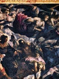 Le Paradis de Tintoret, saint Jean-Baptiste et l'Agneau, au Palais des Doges de Venise