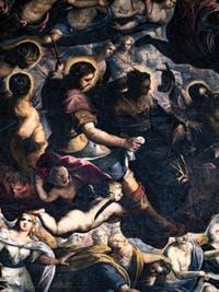 Le Paradis de Tintoret, saint Roch, sainte Hélène, sainte Lucie de Syracuse et Abraham, au Palais des Doges de Venise