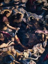 Le Paradis de Tintoret, saint Roch, sainte Hélène, saint Jean-Baptiste et Abraham, au Palais des Doges de Venise