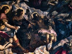 Le Paradis de Tintoret, saint Roch, sainte Hélène et saint Jean-Baptiste, au Palais des Doges de Venise