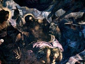 Le Paradis de Tintoret, sainte Hélène, saint Jean-Baptiste et son Agneau, au Palais des Doges de Venise