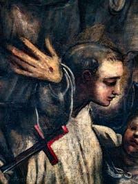 Le Paradis de Tintoret, saint Bernard de Clervaux - saint Antoine de Padoue, au Palais des Doges de Venise