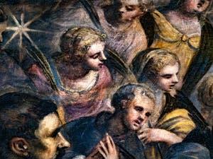 Les martyres du Paradis de Tintoret et saint François d'Assise, au Palais des Doges de Venise