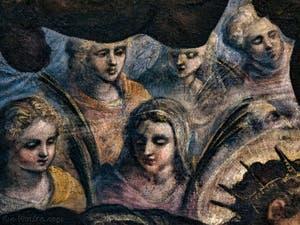 Les saintes martyres du Paradis de Tintoret au Palais des Doges de Venise