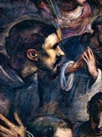 Le Paradis de Tintoret, portrait de saint François d'Assise, au Palais des Doges de Venise