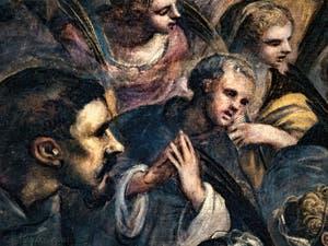 Le Paradis de Tintoret, Saint-Franois d'Assise et les martyrs, au Palais des Doges de Venise