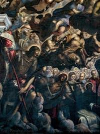 Le Paradis de Tintoret, saint Georges, saint Laurent, sainte Ursule, Tintoret et sa fille Marietta, au Palais des Doges de Venise