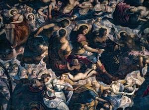 Le Paradis de Tintoret, sainte Barbe, Saint Louis, saint Sébastien, saint Roch, saint Jean-Baptiste, sainte Agnès, sainte Justine, sainte Lucie, Abraham et Isaac, au Palais des Doges de Venise