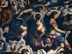 Le Paradis de Tintoret,Saint Louis, saint Sébastien, saint Roch, au Palais des Doges de Venise