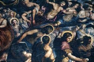 Le Paradis de Tintoret, Saint Louis, saint Sébastien, saint Roch, au Palais des Doges de Venise