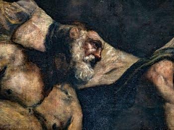 Le Paradis de Tintoret, détail, au Palais des Doges de Venise