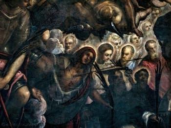 Le Paradis de Tintoret, sainte Ursule entourée de flèches, au Palais des Doges de Venise