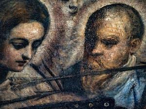 Le Paradis de Tintoret, Saints et flèches de sainte Ursule, au Palais des Doges de Venise