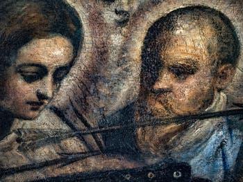 Le Paradis de Tintoret, portrait de Tintoret avec sa fille Marietta, au Palais des Doges de Venise