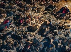 Le Paradis de Tintoret, Moïse, le roi David, le roi Salomon, l'Archange Gabriel, la Vierge Marie, Noé, saint Marc, saint Luc, au Palais des Doges de Venise