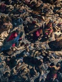 Le Paradis de Tintoret, Moïse, les rois David et Salomon, au Palais des Doges de Venise