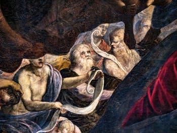Le Paradis de Tintoret, détails, au Palais des Doges de Venise