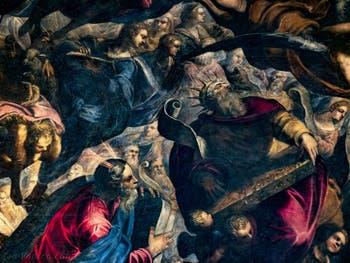 Le Paradis de Tintoret, Moïse et le roi David avec une cithare, au Palais des Doges de Venise