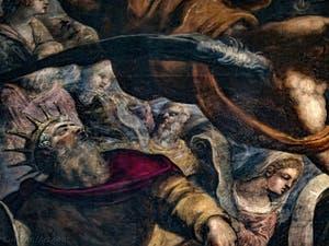 Le Paradis de Tintoret, le roi David d'Israël, au Palais des Doges de Venise
