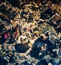 Le Paradis de Tintoret, l'archange Gabriel, le roi Salomon, Isaie, Amos, Noé et saint Marc, au Palais des Doges de Venise