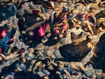 Le Paradis de Tintoret, le roi David, le roi Salomon, Isaie et Noé, au Palais des Doges de Venise