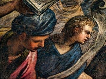 Le Paradis de Tintoret, le roi Salomon, au Palais des Doges de Venise