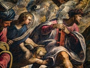 Le Paradis de Tintoret, le prophète Isaie, au Palais des Doges de Venise