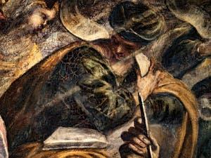 Le Paradis de Tintoret, le prophète Amos, au Palais des Doges de Venise