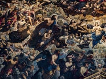Le Paradis de Tintoret, le roi Salomon, les prophètes Isaïe et Amos, Noé, saint Marc, saint Luc et l'archange Raphaël, au Palais des Doges de Venise
