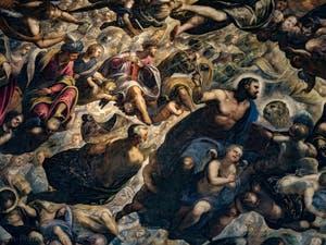 Le Paradis de Tintoret, le roi Salomon, les prophètes Isaïe et Amos, Noé, saint Marc, au Palais des Doges de Venise