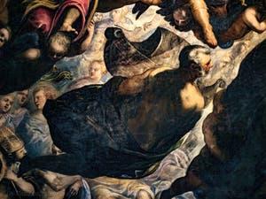 Le Paradis de Tintoret, Noé portant son arche, au Palais des Doges de Venise