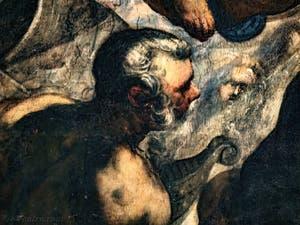 Le Paradis de Tintoret, détail de Noé, au Palais des Doges de Venise
