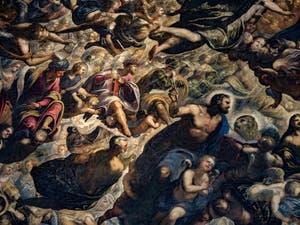Le Paradis de Tintoret, le roi Salomon, les prophètes Isaïe et Amos, Noé et Saint-Marc, au Palais des Doges de Venise
