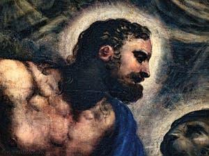 Le Paradis de Tintoret, portrait de Saint-Marc, au Palais des Doges de Venise