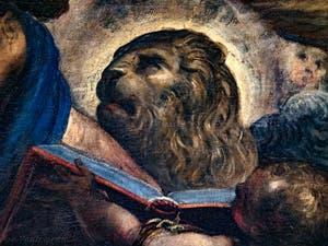 Le Paradis de Tintoret, le lion de Saint-Marc, au Palais des Doges de Venise
