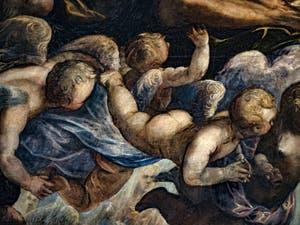 Le Paradis de Tintoret, les angelots sous Saint-Luc, au Palais des Doges de Venise