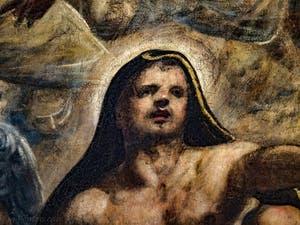 Le Paradis de Tintoret, portrait de Saint-Luc, au Palais des Doges de Venise