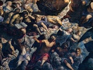 Anges et martyrs du Paradis de Tintoret au Palais des Doges de Venise