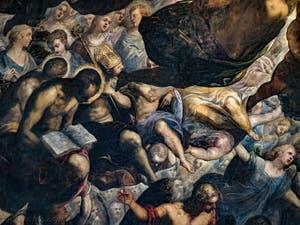 les saints sous Noé du Paradis de Tintoret au Palais des Doges de Venise