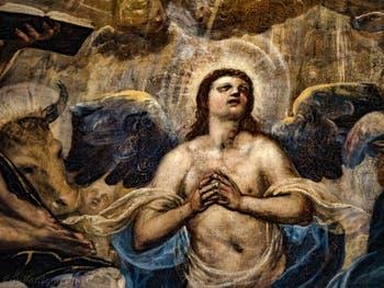Le Paradis de Tintoret, l'Archange Raphaël, au Palais des Doges de Venise