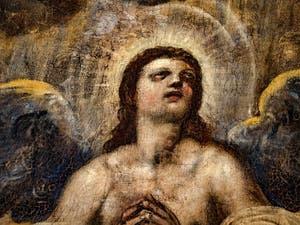 Le Paradis de Tintoret, l'archange Raphaël en gloire, au Palais des Doges de Venise