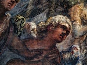 Le Paradis de Tintoret, envol d'ange blond sous l'archange Raphaël, au Palais des Doges de Venise