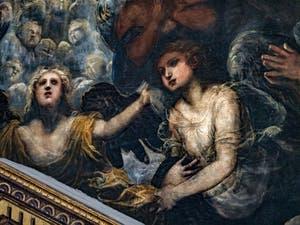 Le Paradis de Tintoret, douceur des anges sous l'archange Raphaël, au Palais des Doges de Venise