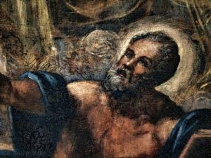 Le Paradis de Tintoret, saint Matthieu évangéliste, au Palais des Doges de Venise
