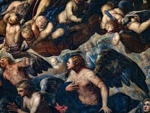 Le Paradis de Tintoret, anges et chérubins, au Palais des Doges de Venise