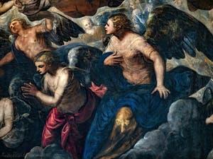 Le Paradis de Tintoret, les anges autour de Raphaël, au Palais des Doges de Venise